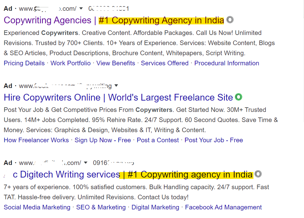 number one copywriting agencies